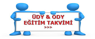 Ody ve Üdy Eğitim Takvimi
